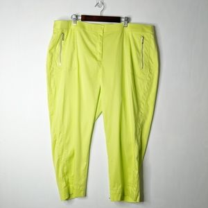 Chicos 4 Lime Green Paige Lightweight Crop Pants